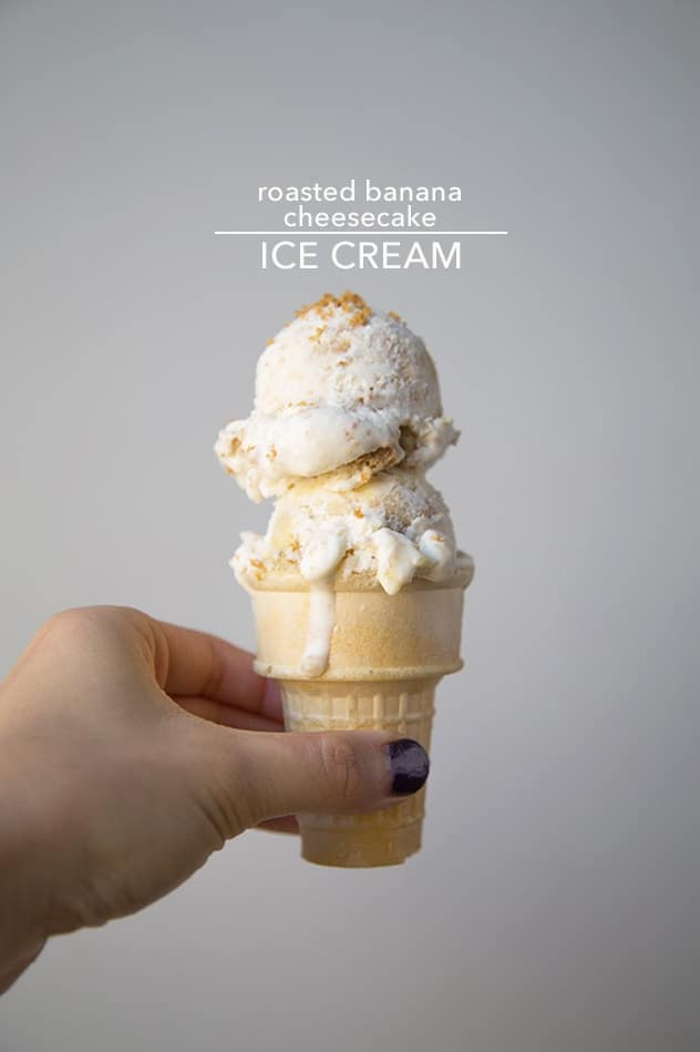 Roasted Banana Cheesecake Ice Cream | The Little Epicurean