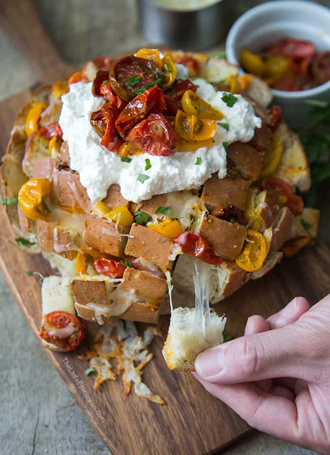Roasted Tomato and Ricotta Pull Apart Bread   The Little Epicurean