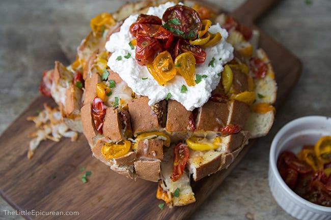 Roasted Tomato & Ricotta Pull Apart Bread   The Little Epicurean