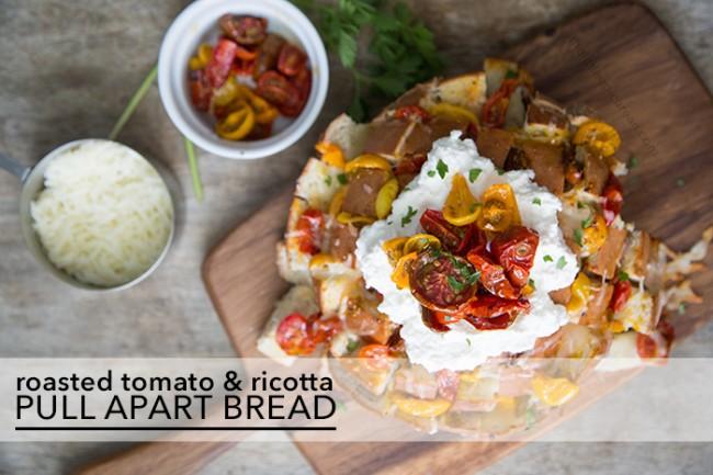 Roasted Tomato & Ricotta Pull Apart Bread | The Little Epicurean