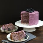 Blueberry Cake with Blueberry Cream Cheese Frosting | The Little Epicurean