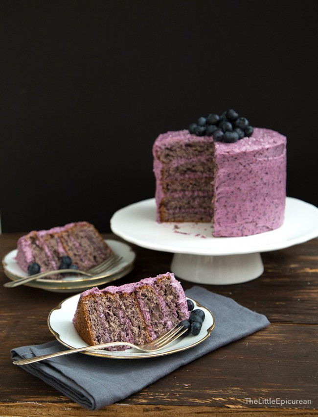 Best Blueberry Sponge Cake