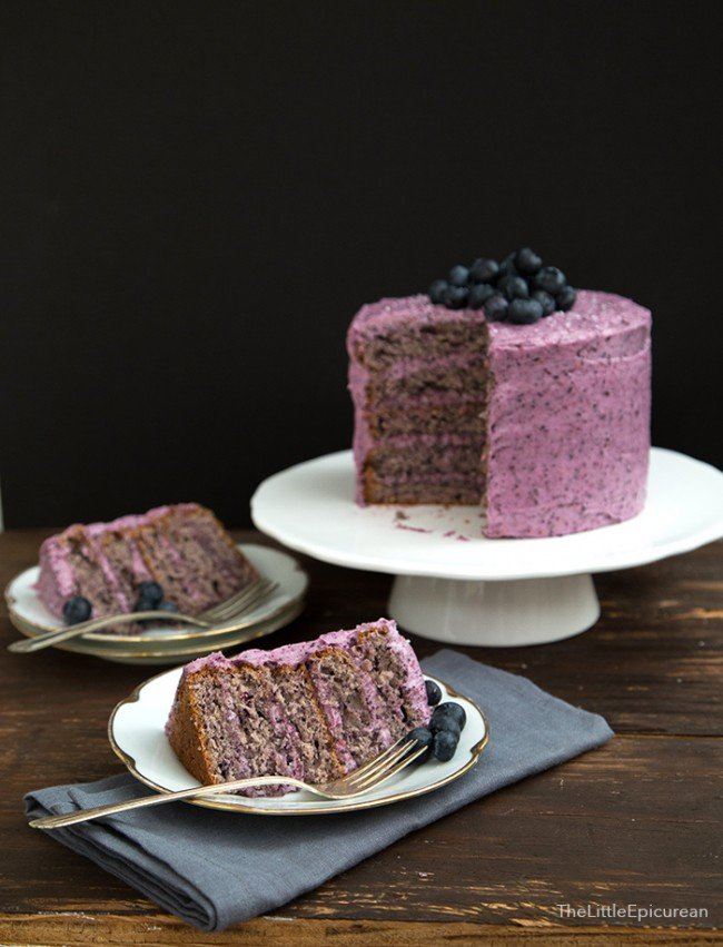 Blueberry Cake The Little Epicurean
