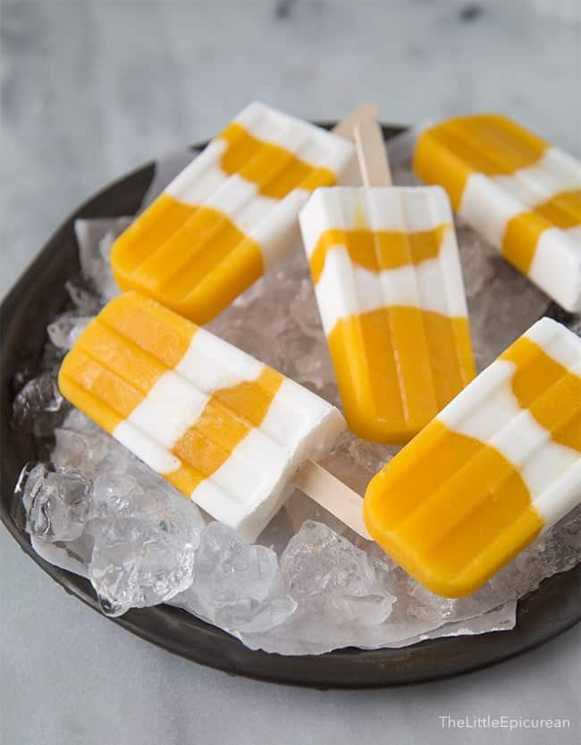 Coconut Mango Popsicles