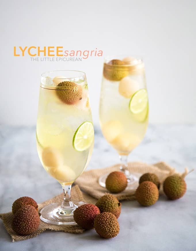 Lychee Sangria | Elderflower Liqueur Recipes And Cocktails For Spring And Summer