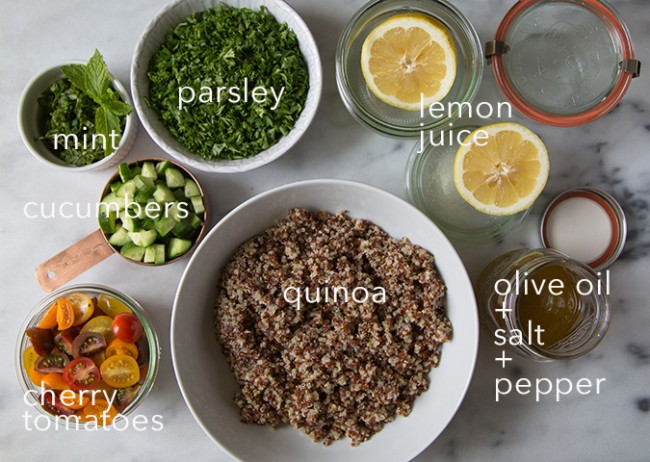 Quinoa Tabbouleh Ingredients