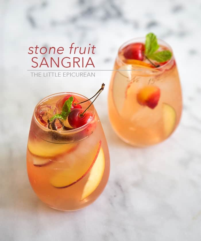Stone fruit sangria the little epicurean one reason lots and lots of sangria with stone fruit season in full swing what better way to enjoy those fruits than with some wine thecheapjerseys Image collections