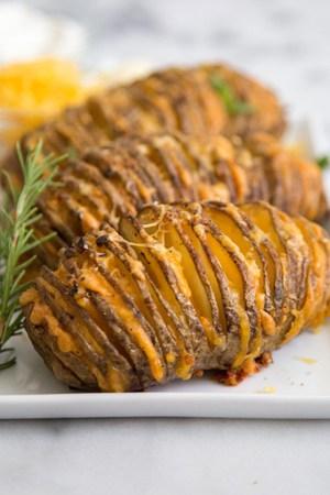 Cheesy Accordion Potatoes