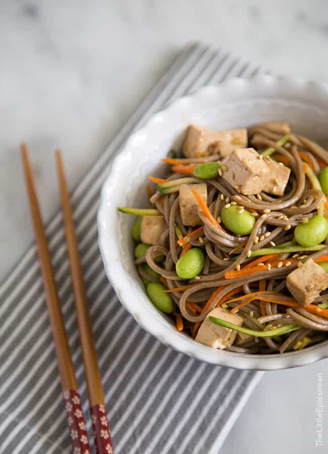 Balsamic Ginger Soba Noodles
