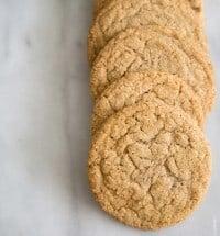 Espresso Gingersnap Cookies