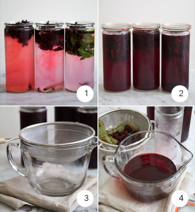 Cold Brew Hibiscus Tea