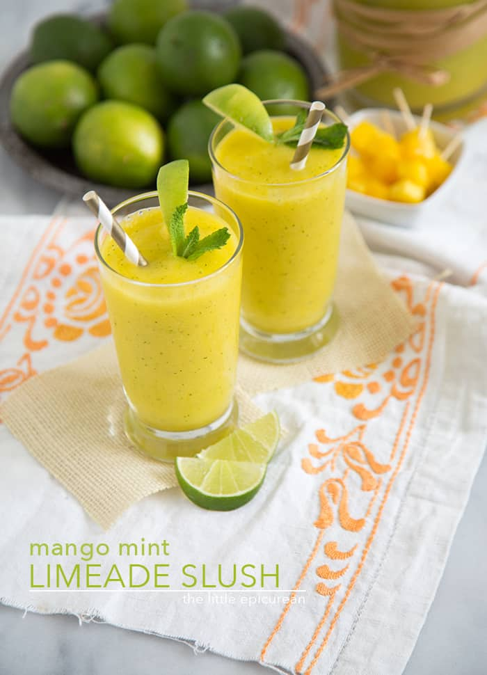Mango Mint Limeade Slush