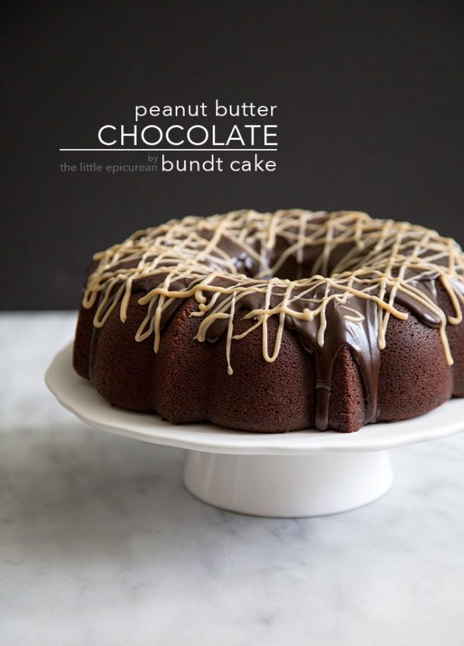 Peanut Butter Chocolate Bundt Cake The Little Epicurean - Bundt birthday cake