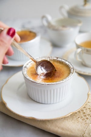 Slow Cooker (tea-infused) Creme Brulee