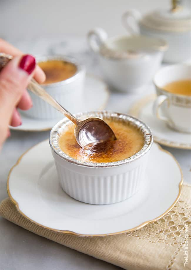 Slow Cooker (tea-infused) Creme Brulee