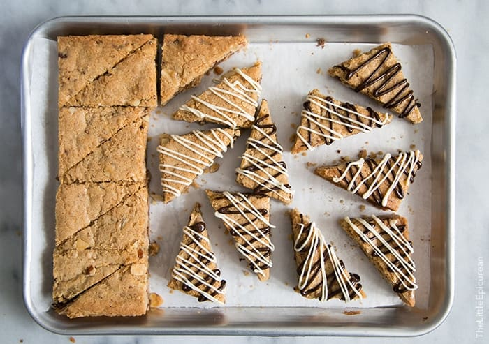 Toffee Chocolate Chip Cookie Wedges | The Little Epicurean