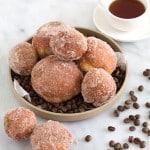 Coffee Custard Filled Doughnuts | the little epicurean