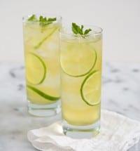 Cold Brew Green Tea Caipirinha