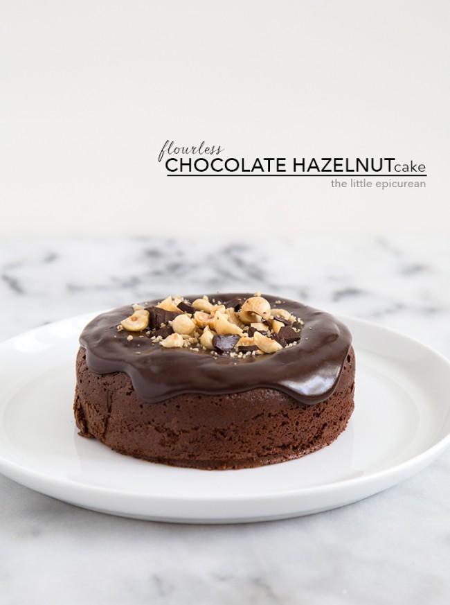 Flourless Chocolate Hazelnut Cake | The Little Epicurean