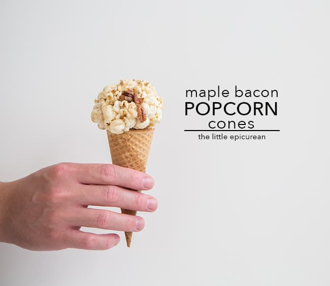 Maple Bacon Popcorn Cones