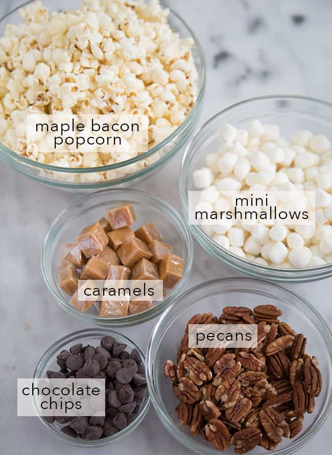 Maple Bacon Popcorn Cones Ingredients