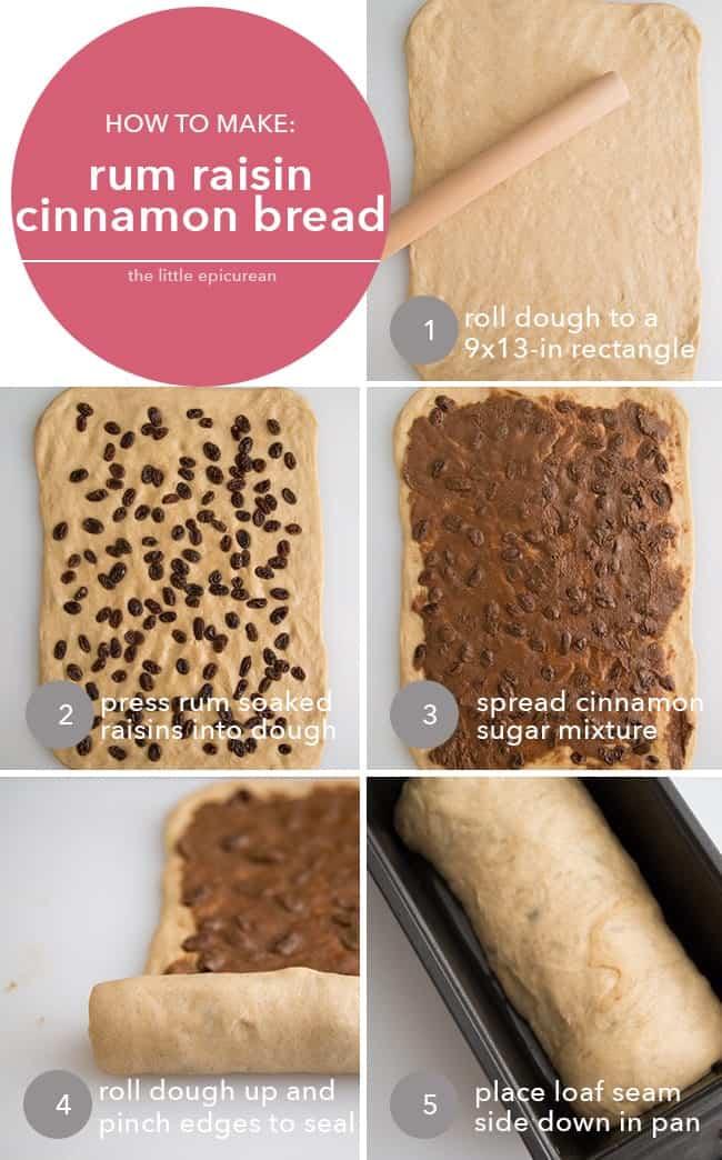 How to make: rum raisin cinnamon bread
