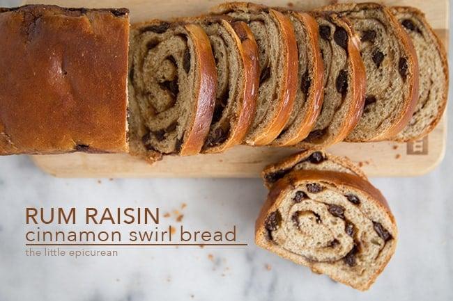 Rum Raisin Cinnamon Swirl Bread