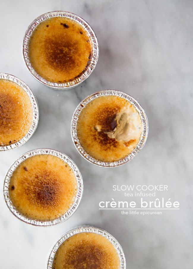 Slow Cooker Creme Brulee (flavored with tea!)