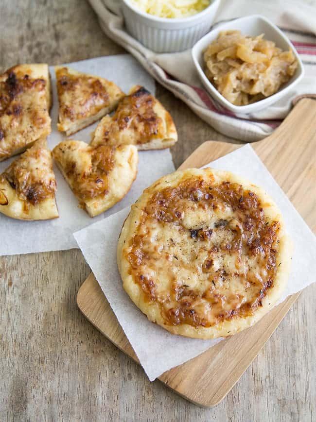 French Onion Mini Pizzas | the little epicurean