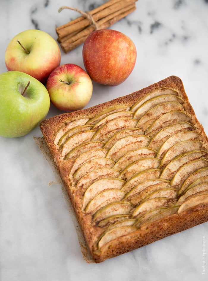 German Apple Cake- The Little Epicurean