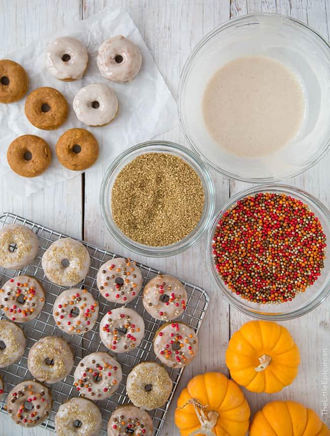 Mini Baked Pumpkin Donuts | the little epicurean