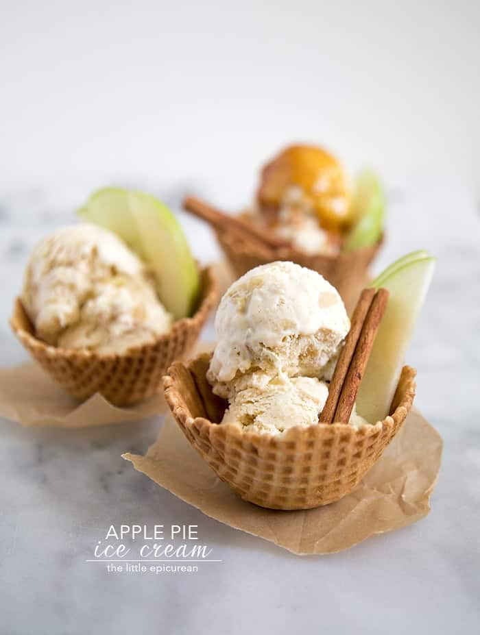 Apple Pie Ice Cream- The Little Epicurean