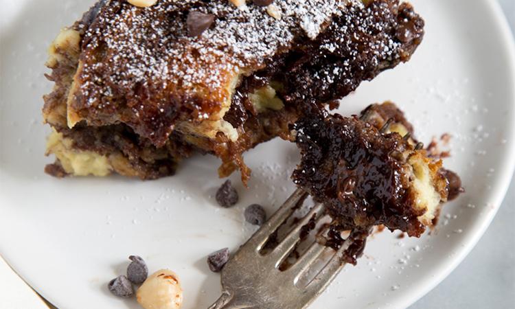 Chocolate Swirl Bread Pudding
