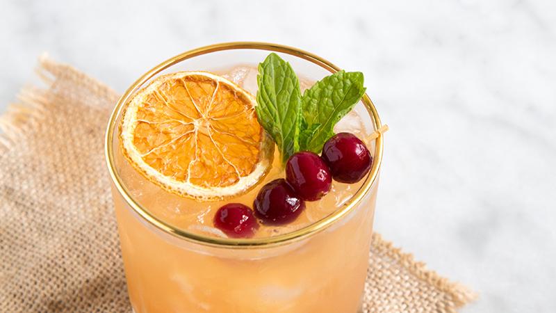 Thanksgiving Cocktail: Cranberry Orange Bourbon