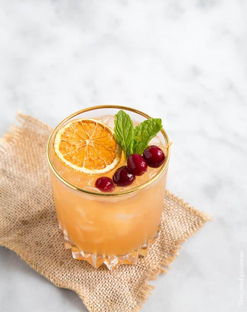 Thanksgiving Cocktail: Cranberry Orange Bourbon