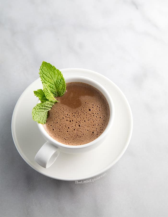 Mint Hot Chocolate #chocolategives