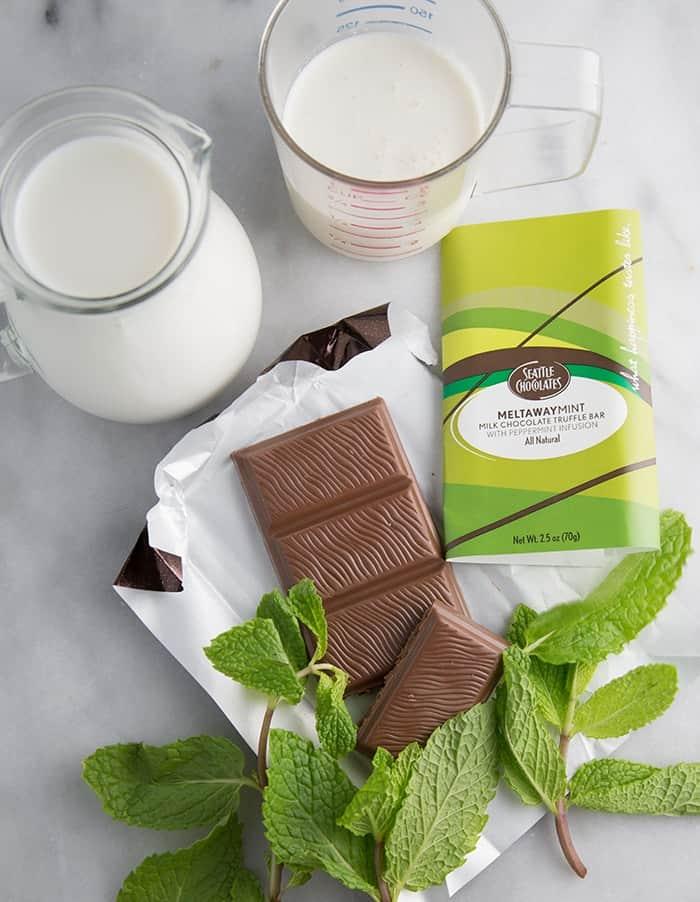 Mint Hot Chocolate #chocolategives