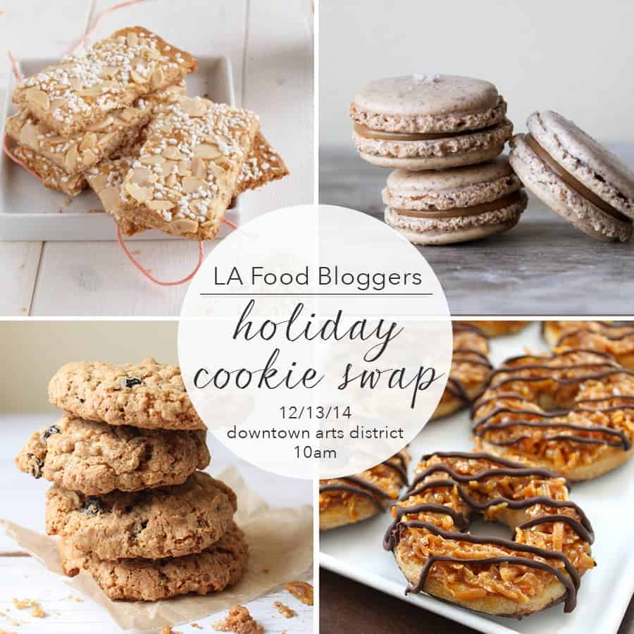 Los Angeles Food Bloggers Holiday Cookie Swap invitiation