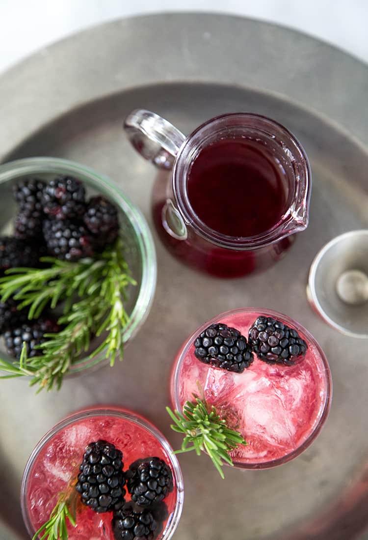 Rosemary Blackberry Limonata Cocktail