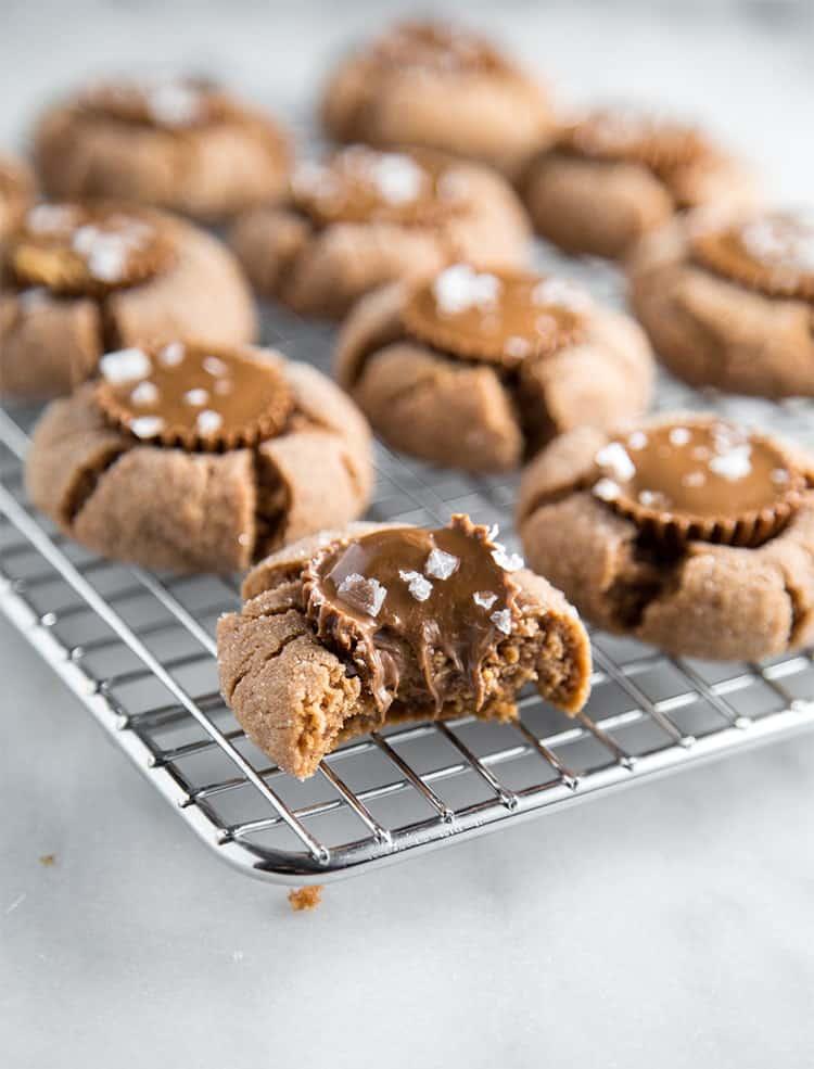 Chocolate Peanut Butter Cookies- The Little Epicurean