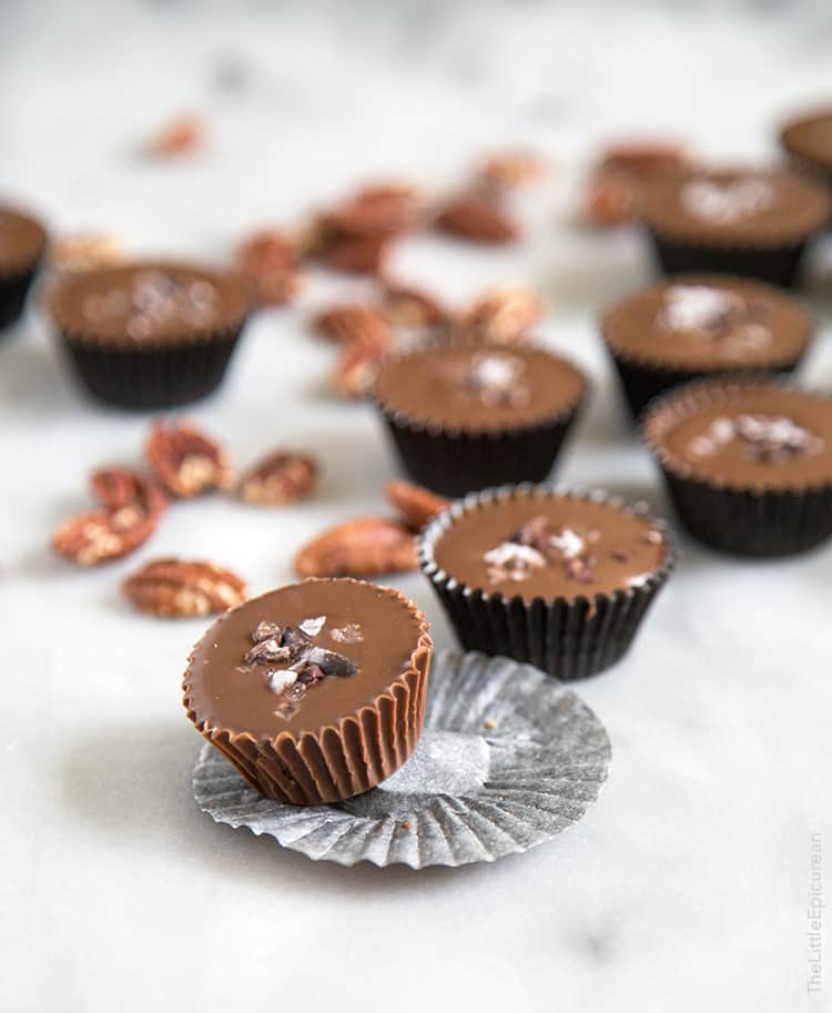 Milk Chocolate Pecan Cups- The Little Epicurean