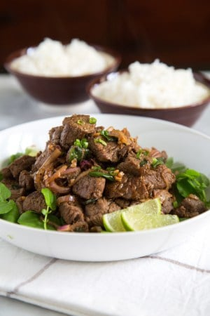 Stir Fry Beef with Onion and Scallions