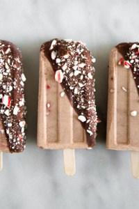 Frozen Peanut Butter Candy Cane Bars