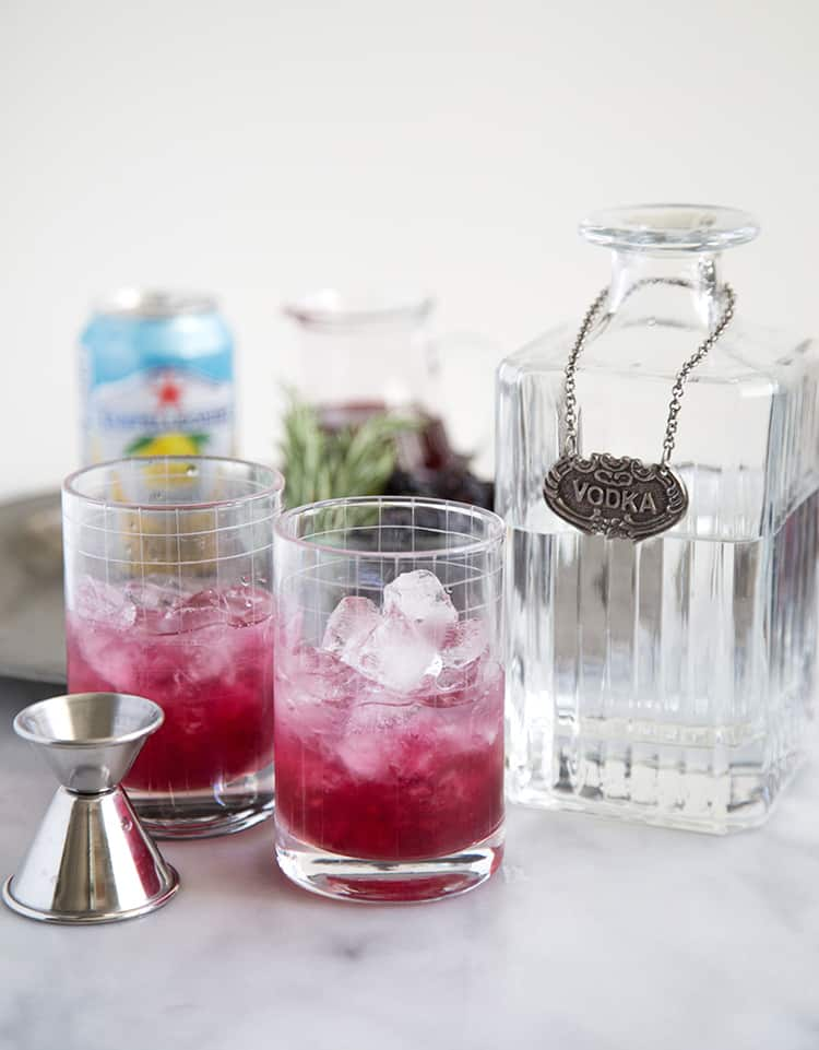 Rosemary Blackberry Limonata Cocktail