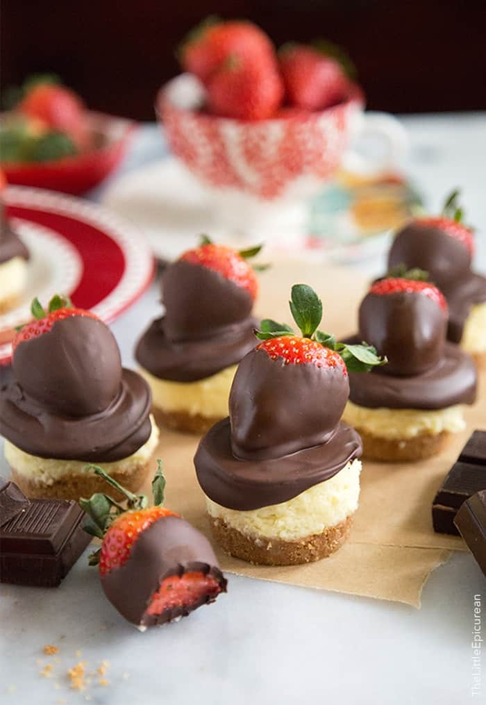 Chocolate Dipped Strawberry Cheescake