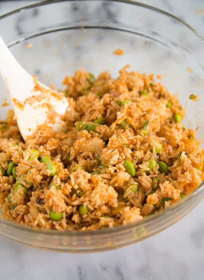 """Baked Kimchi """"Fried"""" Rice"""