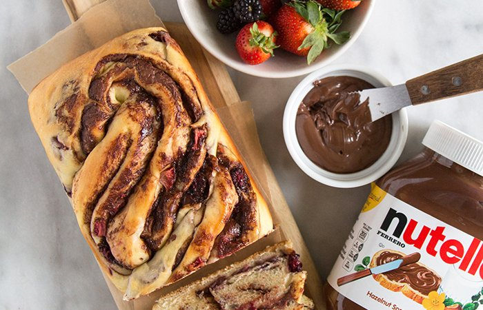 Berry Nutella Swirl Bread