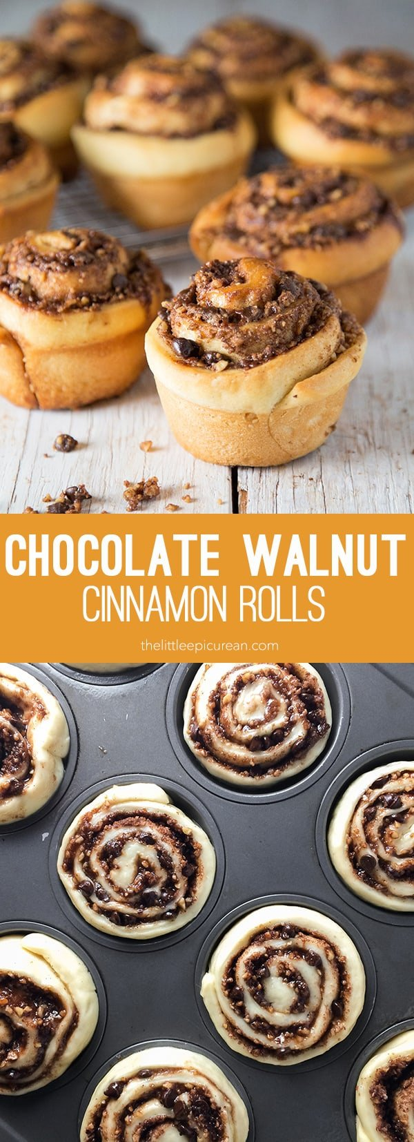 Chocolate Walnut Cinnamon Rolls