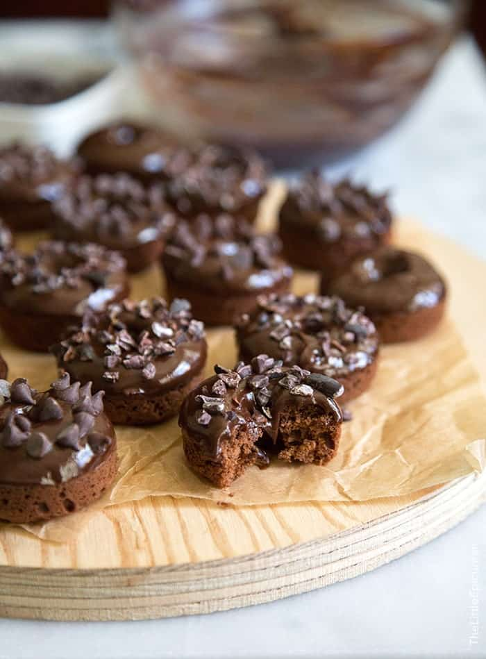 Triple Chocolate Baked Donuts
