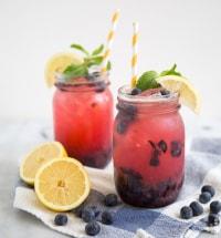 Sparkling Blueberry Lemonade   the little epicurean